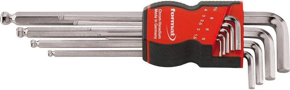 Satz 1,5-10mm Kugelk FORMAT Winkelschraubendr