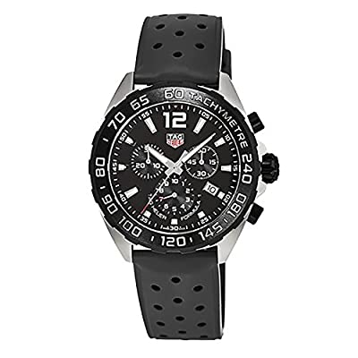 TAG Heuer Men's 'Formula 1' Swiss Quartz Stainless Steel and Rubber Dress Watch, Color:Black (Model: CAZ1010.FT8024)