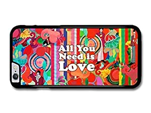 """AMAF ? Accessories All You Need Is Love John Lennon The Beatles Quote Illustration Background case for iPhone 6 Plus (5.5"""")"""