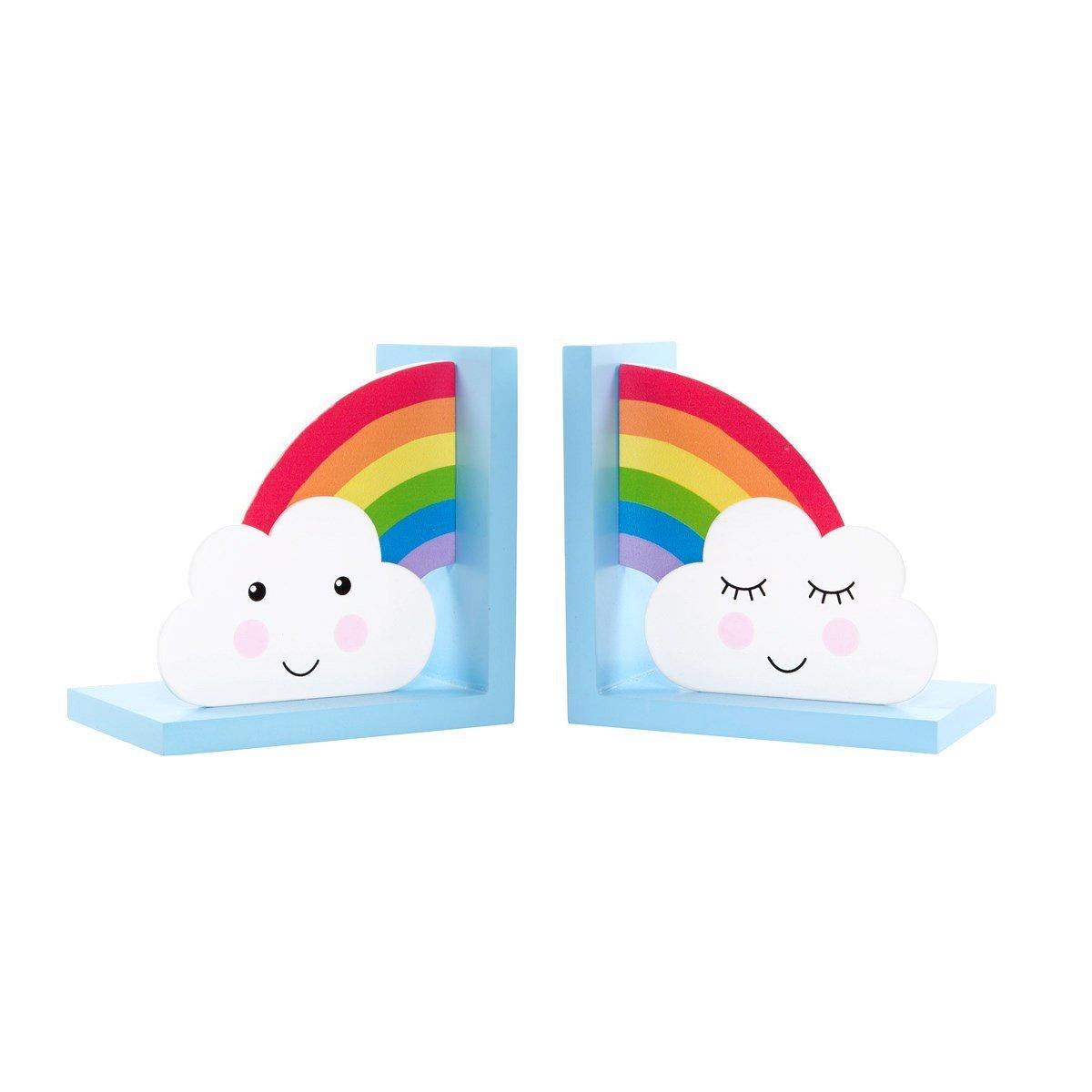 Sass /& Belle Day Dreams Buchst/ützen aus Holz 2-teiliges Set Regenbogen und Wolken-Motiv