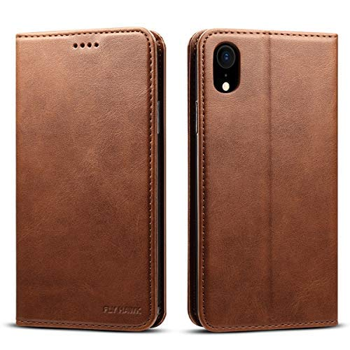 Wallet Case Compatible iPhone Xs Max/iPhone 10s Max, Wallet Case Premium PU Leather Flip Cover Folio Case [Kickstand Feature] with ID & Credit Card Pockets 6.5 inch Brown ()