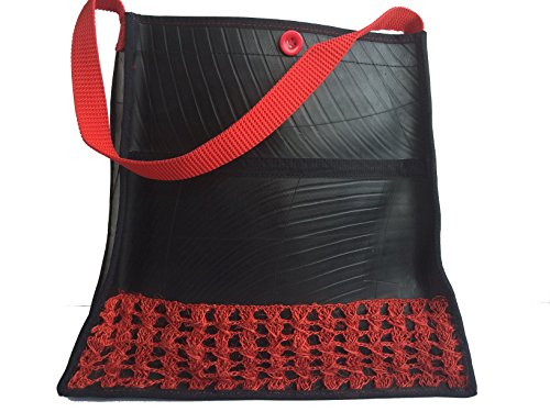 Recycled Rubber Tote handbag Iraka Crochet