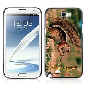 YOYOSHOP [Funny Squirrel Smoking] Samsung Galaxy Note 2 Case