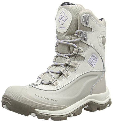Columbia BUGABOOT PLUS III OMNI-HEAT - botas de caño bajo de piel mujer Blanco (Sea Salt, Twilight 125Sea Salt, Twilight 125)