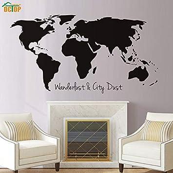 Weaeo Wanderlust Y Ciudad Polvo Mapa Mundial Etiqueta De La Pared ...