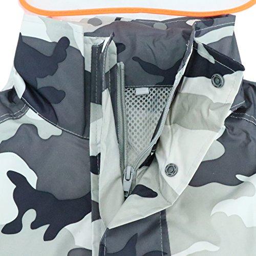 Agua de Prueba Portatíl Y gris A de DOLITY Traje de Lluvia Lluvia Pesca camo con Capucha Traje Pantalones de D q6BwAZ