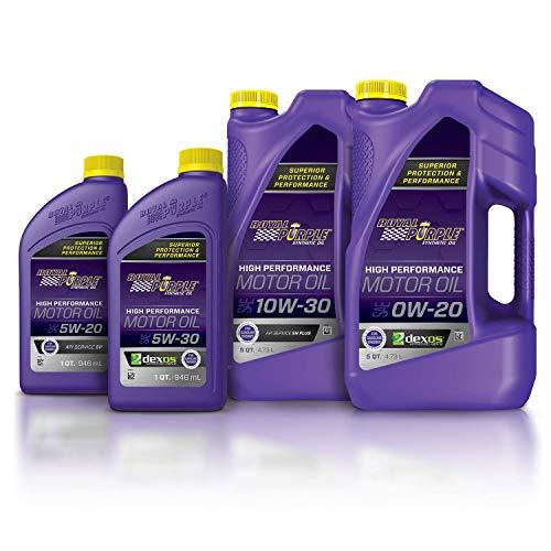 Royal Purple 51020 API-Licensed SAE 0W-20 High Performance Synthetic Motor Oil, 5 Quart