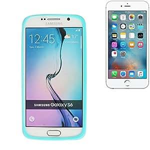 parachoques silicio / caso del anillo por Apple iPhone 6s Plus, turquesa | cubierta de TPU marco protector caucho de protección - K-S-Trade (TM)