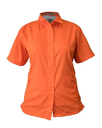 d922354518945 Tiger Hill Ladies Pescador Polyester Fishing Shirt Short Sleeves at Amazon Women s  Clothing store