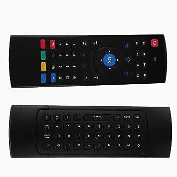 Formulaone 2.4G Control Remoto Inteligente Fly Mouse Teclado inalámbrico para MX3 para Android Mini PC TV Box Control Remoto para el Ordenador portátil: ...
