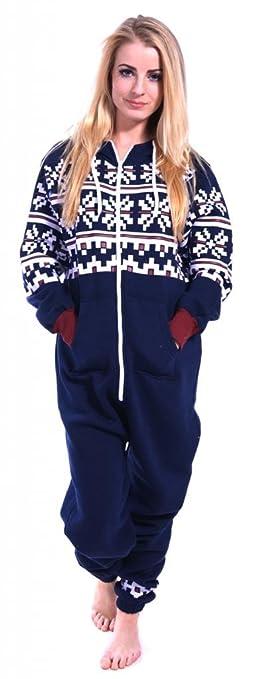 e21fd7aea115 Womens Onesie Fashion Playsuit Ladies Jumpsuit Aztec Navy S