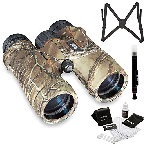 Bushnell 8x42 Trophy Binocular, Realtree Camo (334209) with Harness and Glass Care Kit