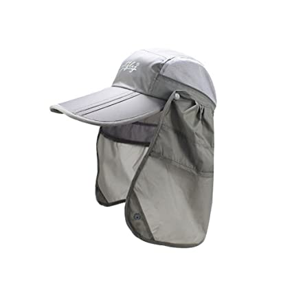 cbf57f14551 Image Unavailable. Image not available for. Color  Viva Fancy Sports Unisex  UV 50+ 360 Degree Sun Protection Outdoor Sport Fishing Flap Hat