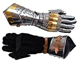 Medieval Articulated Gauntlets with Brass Accents ABS