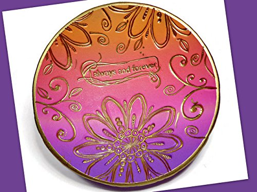 Handmade Purple Sunset Wedding Ring Dish- Jewelry Holder-Wedding Favors- Polymer Clay Dish- Home Decor- Gifts for Home- Candle Holder