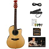 Ovation AB24-4-KIT-1 Applause Balladeer Acoustic-Electric Cutaway Guitar...