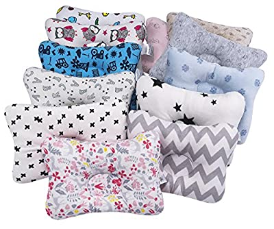 HONGLIN 2-Pack Baby Pillow Newborn Baby Protective Pillows Infant Head Shaping Nursing Pillows Breathable & Reliable Materials