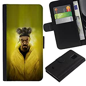 UNIQCASE - Samsung Galaxy S5 Mini, SM-G800, NOT S5 REGULAR! - Evil Chemist - Cuero PU Delgado caso cubierta Shell Armor Funda Case Cover