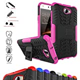 Huawei Y5 II / Y6 II Compact Case,Mama Mouth Shockproof Heavy Duty Combo Hybrid Rugged Dual Layer Grip Cover with Kickstand For Huawei Y5II / Huawei Y5 2 / Huawei Y6II Compact Smartphone,Pink