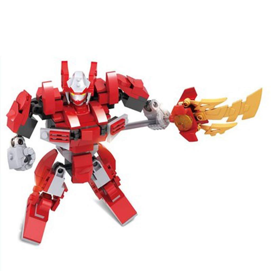 RFJJAL Kinderspielzeug-Übung Denken Roboter Möbel Büro Dekoration Dekoration Dekoration Modell montieren (Farbe   rot) 09a489