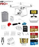 #6: DJI Phantom 4 PRO+ Quadcopter Drone with 1-inch 20MP 4K Camera KIT with Built In monitor + SanDisk 64/32GB Micro SDXC Cards + Card Reader 3.0 + Guards + Harness + Range Extender + Charging hub
