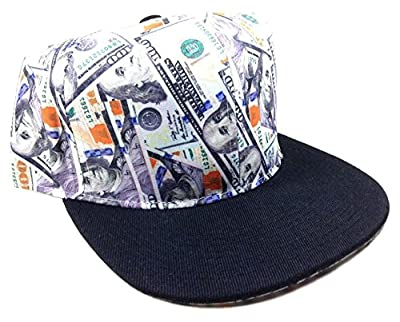 Crown Cash Money New Hundreds Black Bill Snapback Hat