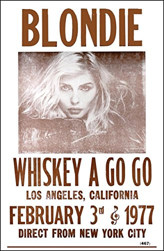 "Blondie at Whiskey A Go Go 1977 14"" X 22"" Vintage Style Concert Poster"
