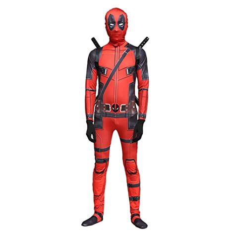 purchase cheap 8d03e fefc3 QQWE Marvel Deadpool Kostüm Erwachsene Kinder Halloween Cosplay Kostüm Body  Spandex Overalls Cosplay Voller Satz Kleidung, A-Children-XL  Amazon.de   Küche   ...
