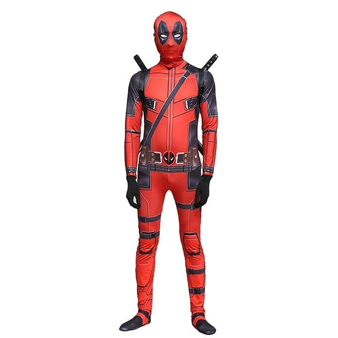 QQWE Marvel Deadpool Disfraz Disfraz Adulto Niños Halloween Cosplay Traje Mono Spandex Monos Cosplay Conjunto Completo De Ropa,B-Adult-M: Amazon.es: Hogar