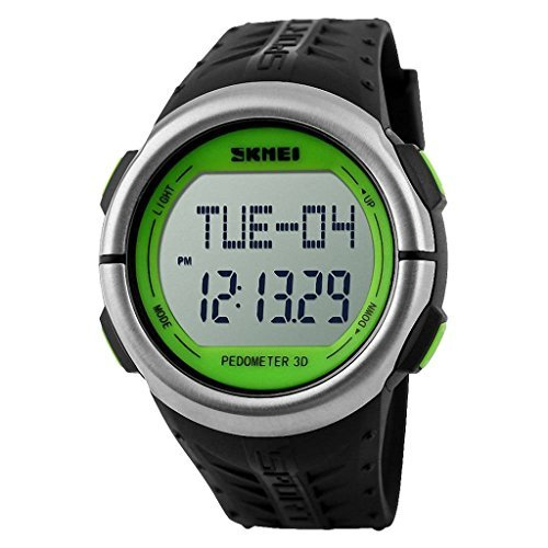 SKMEI 50M Waterproof Heart Rate Monitor Pulse Watch (Black) - 1