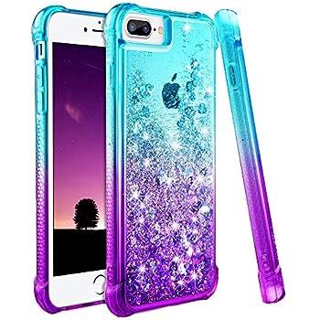 newest 43c13 cded8 Amazon.com: iPhone 7 Plus Case, iPhone 8 Plus Glitter Case, Ruky ...