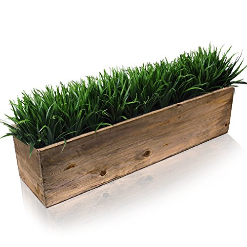 CYS EXCEL Planter Box, Wood Planter, Wood Rectangle Window Box Wood Planters with Removable Zinc Liner, 5 Size Available, Pack of 1, ( H:6