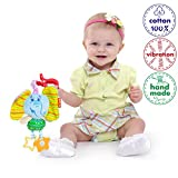 Vibration Infant Toys - Baby Stroller Toy - Hanging Toys for Babies - Infant Car Seat Toys with Teethers and Universal Clip
