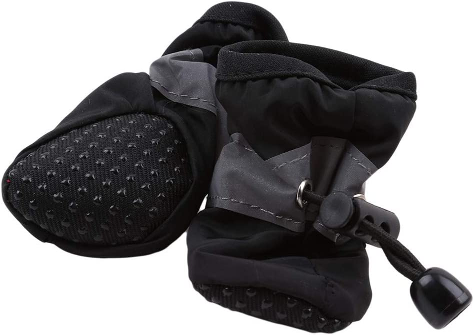 Cngstar Waterproof Dog Shoes Rain Snow Booties Waterproof Rubber Anti Slip Shoes for Dog Puppy 4 Pcs (L
