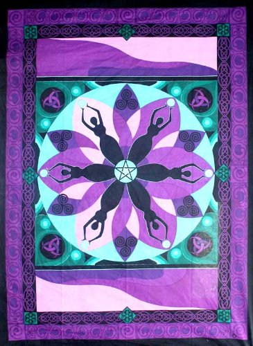 Cotton Single Tapestry Moon Goddess Circle