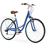 sixthreezero Body Ease Women's 7-Speed Comfort Road Bicycle, Navy Blue