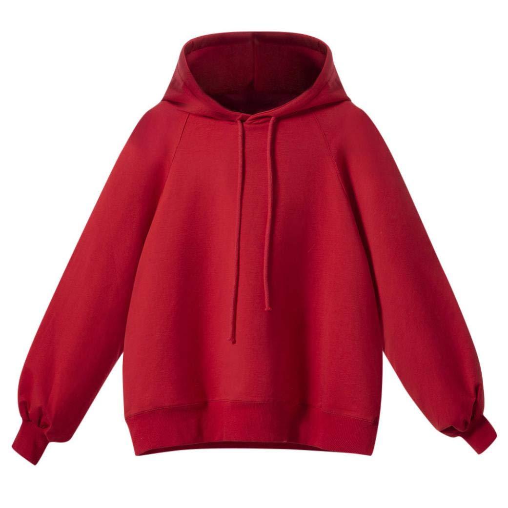 Chrikathy Fashion Lantern Sleeve Hooded Blouse Women Long Loose Winter Sweater by Chrikathy Women Tops & Tees