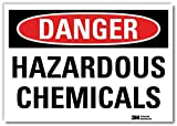 "SmartSign by Lyle U3-1569-RD_7X5 ""DANGER HAZARDOUS CHEMICALS "" Reflective Self-Adhesive Decal, 7"" x 5"""