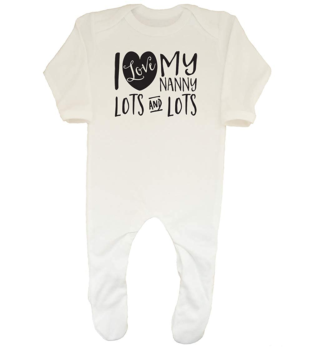 Shopagift Baby I Love My Nanny Lots and Lots Sleepsuit Romper