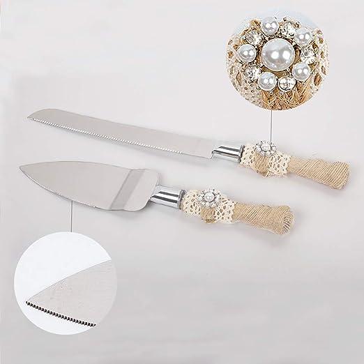 Amazon.com: senover Juego de cuchillos y servidor rústico ...