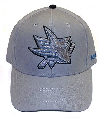 San Jose Sharks Structured Flex Reebok Hat - S/M - M664Z