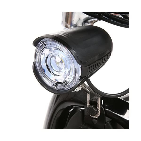Bunao Bicicletta Elettrica City Bike Pieghevole a Pedalata Assistita, Ruote 20'', velocità 25km/h, Mileage 35-70km, Nero 6 spesavip