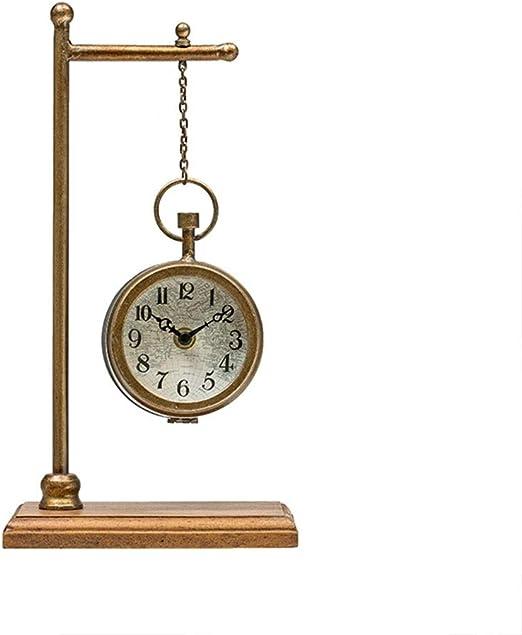 Yxx max *Reloj de Mesa Reloj de Escritorio Base de Madera de ...