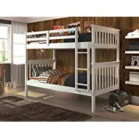 Twin Over Twin Mission Bunkbed in White