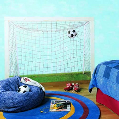 york-wallcoverings-bt2996m-soccer-goal-accent-mural-cumulus-cotton-blue-meadow-green-tweed-tan-brigh