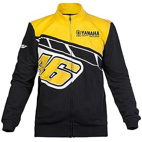 Valentino Rossi VR46 Yamaha - Sudadera de Moto GP, diseño Valentino Rossi (serie aniversario 60 años de Yamaha), color negro/amarillo: Amazon.es: Coche y ...