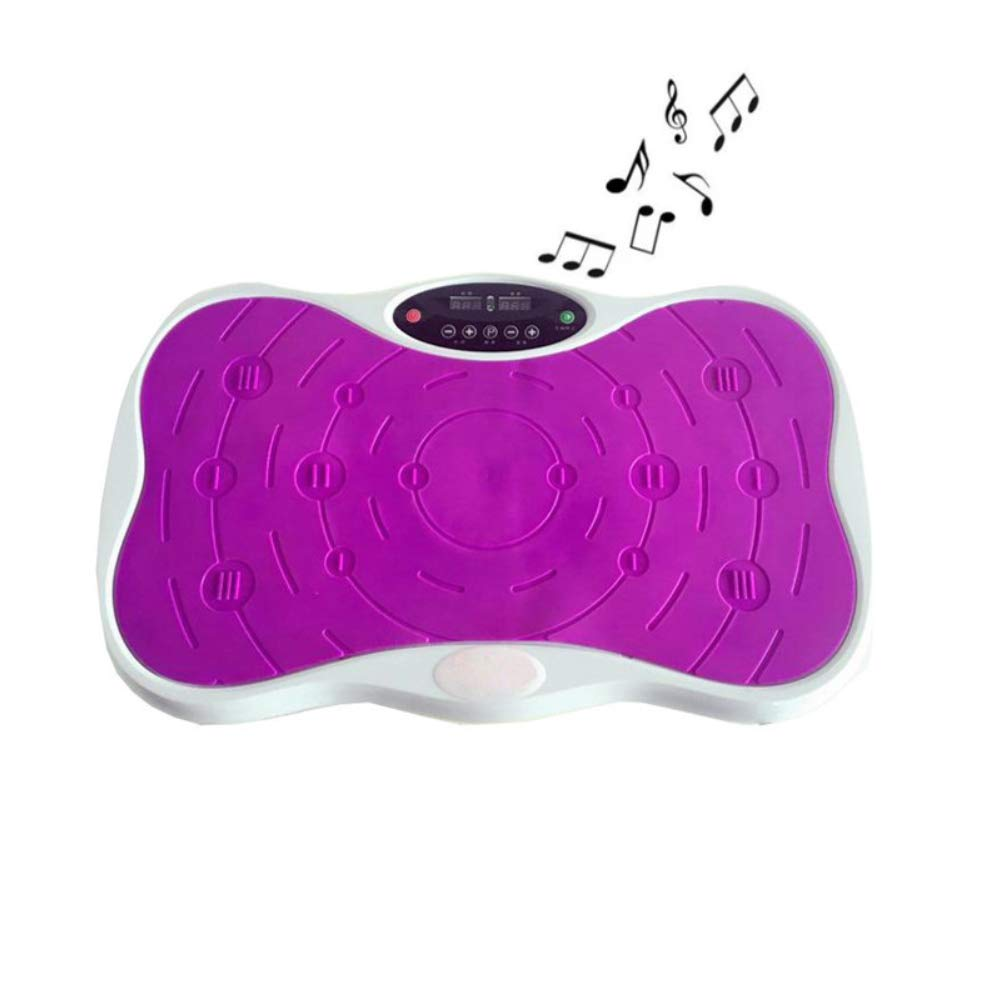 SVNA Fitness Vibration Platform Vibrating Plate Exercise Machine is Suitable for Massage and Exercise Body Fat Reduction Training,Purple