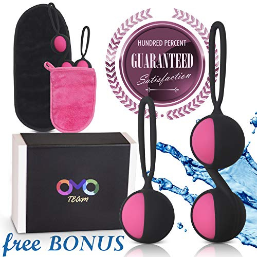 Kegel Balls for Woman - Vaginal Kegel Ben wa Vibrating in Response to Your Body's Movements, Exercise Weights Set for Beginner - Bladder Control & Pelvic Floor Exercises for Women & Girls