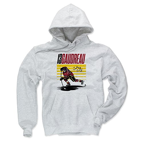 500 LEVEL Johnny Gaudreau Calgary Flames Hoodie Sweatshirt (Medium, Ash) - Johnny Gaudreau Starter -