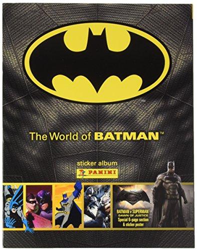 The World Of Batman Panini Sticker Collection Starter Pack - Album & 31 Stickers